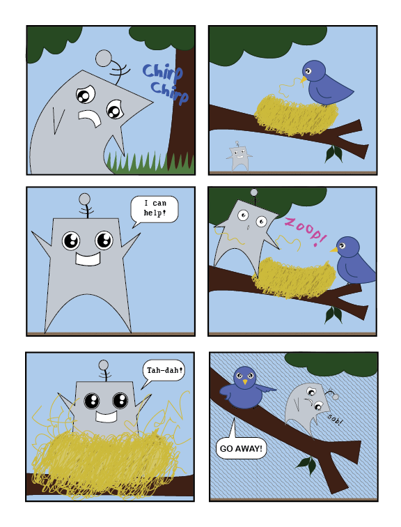 Does a Robot in the Woods? Page 4